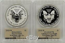 2013-W Silver Eagle West Point Mint Set REV/PR70 PCGS First Strike T Cleveland