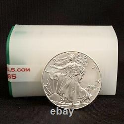2014 Mint Roll of 20 Coins 1 Troy oz. 999 Fine Silver American Eagle $1 BU