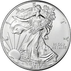 2015 American Silver Eagle (1 oz) $1 1 Roll Twenty 20 BU Coins in Mint Tube