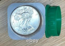 2015 Mint Roll of 20 Silver American Eagle coins 1 oz 0.999