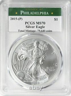 2015-P Silver Eagle Philadelphia Mint Label PCGS MS70