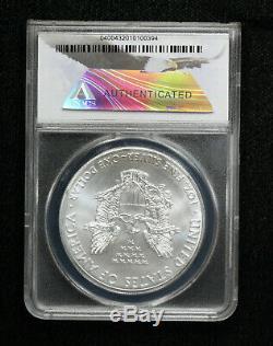 2015-(P) US Silver Eagle $1 ANACS MS70 1 of 79,640 Struck at Philadelphia Mint