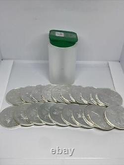 2016 American Silver Eagle 1 oz. 999 Silver 1 Roll of 20 BU Coins in Mint Tube