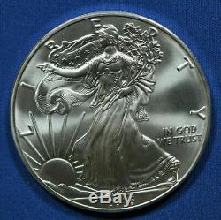 2016 Silver Eagle 1 oz 20 Roll $1 BU Lot of Bullion Coins U. S. Mint Tube