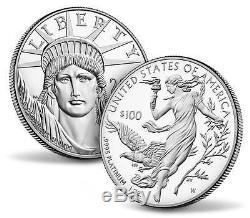 2016-W + 2015-W American Eagle Platinum Coins w COA Sealed in Mint Shipper Box
