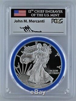 2016 W Proof Silver Eagle Congratulations Set PCGS PR69 Mercanti Mint Engraver