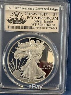 2016-w (2019) Silver Eagle, Pr70dcam, Wp Mint Hoard, Shanley Signed Coa #1 Of 10