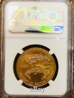 2017 $50 Gold Eagle Mint Error Ngc Ms 69 Rare