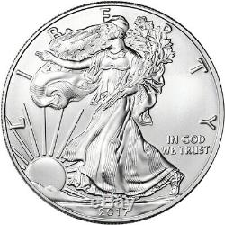 2017 American Silver Eagle (1 oz) $1 1 Roll Twenty 20 BU Coins in Mint Tube