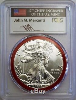 2017 (S) Silver Eagle Struck at San Francisco PCGS MS70 Mercanti Mint Engraver