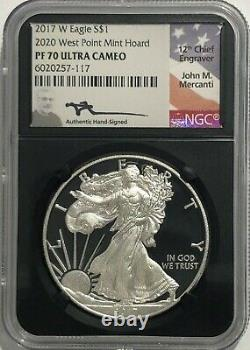 2017 W $1 Proof Silver Eagle Ngc Pf70 Ucam Mercanti 2020 West Point Mint Hoard
