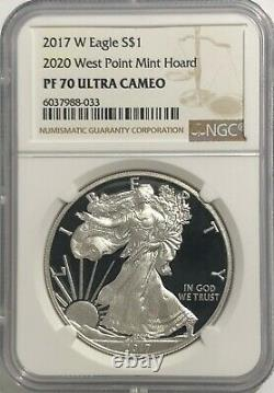 2017 W $1 Proof Silver Eagle Ngc Pf70 Ultra Cameo 2020 West Point Mint Hoard