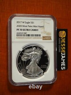 2017 W Proof Silver Eagle Ngc Pf70 From 2020 West Point Mint Hoard Brown Label