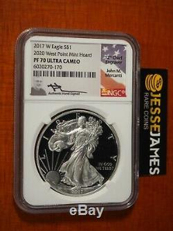 2017 W Proof Silver Eagle Ngc Pf70 Mercanti From 2020 West Point Mint Hoard