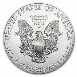 2018 1 OZ. SILVER AMERICAN EAGLE. 999 PURE SILVER LOT of 20 US TREASURY TUBE