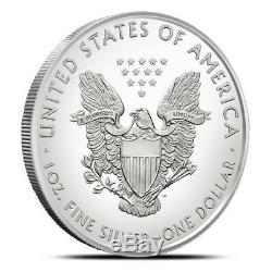 2018 American 1 Oz Silver Eagle Lot of 20 BU Coins in U. S. Mint Tube / Roll