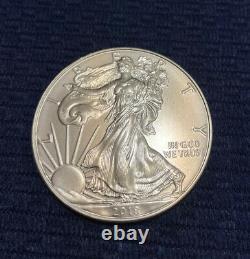 2018 American Silver Eagle 1 oz $1 1 Roll Twenty 20 BU Coins in Mint Tube