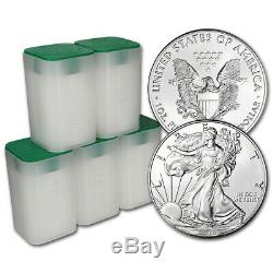 2018 American Silver Eagle (1 oz) $1 5 Rolls 100 BU Coins in 5 Mint Tubes