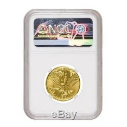 2019 1/4 oz $10 Gold American Eagle NGC MS 69 Mint Error (Rev Struck Thru)