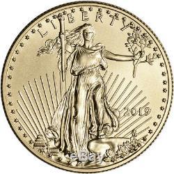 2019 American Gold Eagle 1/2 oz $25 BU coin in U. S. Mint Gift Box