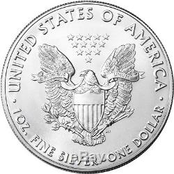 2019 American Silver Eagle 1 oz $1 1 Roll Twenty 20 BU Coins in Mint Tube