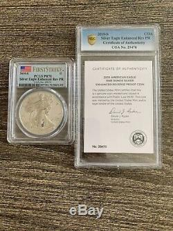 2019 S Silver Eagle Enhanced Reverse Proof First Strike Pcgs Pr70 Mint Packaging