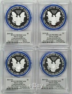 2019 W Silver Eagle Congratulations Set PCGS PR70 FDOI Mercanti Mint Locations