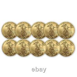 2020 1/10 oz American Gold Eagle BU Lot of 10