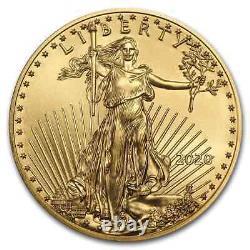 2020 1/10 oz American Gold Eagle BU (withU. S. Mint Box)