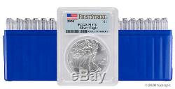 2020 $1 American Silver Eagle PCGS MS70 FS Lot of 20 IN STOCK-READY TO SHIP