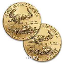 2020 1 oz Gold American Eagle BU (lot of 2)
