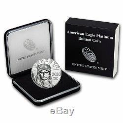 2020 1 oz Platinum American Eagle BU (withU. S. Mint Box) SKU#206335