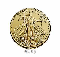 2020 $5 1/10 oz American Gold Eagle Coin. 917 fine BU US Mint