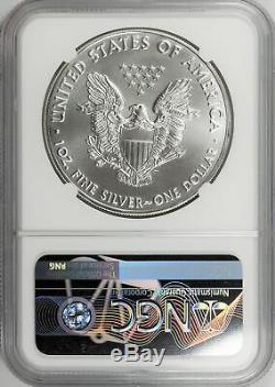 2020 (P) $1 Silver American Eagle MINT ERROR Struck Thru NGC MS69-Philadelphia