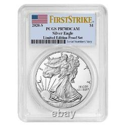 2020 S 1 oz Proof Silver American Eagle Limited Edition PCGS PF70 FS with Mint Set