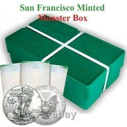 2020 (S) San Francisco Mint Struck American Silver Eagle Sealed Monster Box