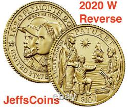 2020 W American Eagle Gold Uncirculated One Ounce 22-karat US Mint Coin 1 20EH