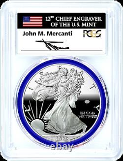 2020-w Mint Engraver-privy Mark-silver Eagle-pcgs Pr70-fdoi-mercanti-pop 159