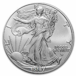 2021 1 oz American Silver Eagle BU (Type 2) Lot, Roll, Tube of 20 Coins