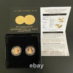 2021 American Eagle One-Tenth Ounce Gold US Mint Two-Coin Set