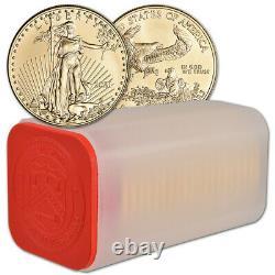 2021 American Gold Eagle 1 oz $50 1 Roll Twenty 20 BU Coins in Mint Tube