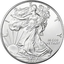 2021 American Silver Eagle 1 oz $1 1 Roll Twenty 20 BU Coins in Mint Tube