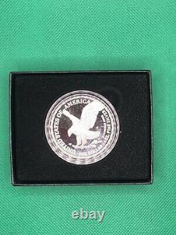 2021-S American Silver Eagle Type 2 US Mint Proof Coin San Francisco in Hand
