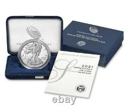 2021 W American Eagle 1 oz Silver Proof Type 1 coin -3 Coins in mint sealed box
