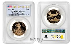 2021 W Proof Gold Eagle Pcgs Pf 70 $25 FIRST DAY ISSUE PRESALE Mint Confirmed