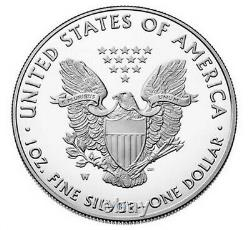 2021 W Proof Silver Eagle, Heraldic T-1, Purchased From Us Mint, Low Mintage