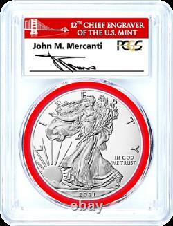 2021-s Mint Engraver-type 1(emergency Issue)silver Eagle-pcgs Ms70-fdoi-mercanti