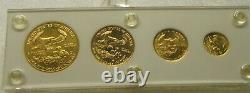 4 COIN SET 1986 US Mint AMERICAN GOLD EAGLES 1.85 OZ. GOLD 1st YEAR