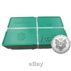 500 Silver American Eagle 1oz Coins Sealed US Mint Sealed Box BANK WIRE ONLY