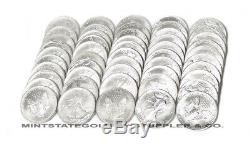 50 BU 1oz U. S Silver Eagles Mixed dates Brilliant Uncirculated bullion coins Lot